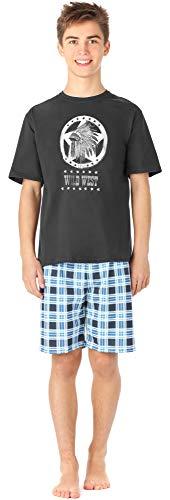Timone Jugend Schlafanzug TI113 (GraphitKariert4 (9632301), 170)