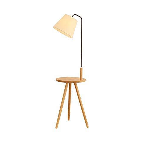 Hai Ying * Moderne creativiteit hout massief hout statief stof lampenkap lampenkap met cilinder kleur crème trommel licht accessoires verlichting: 140 cm (kleur: zwart)