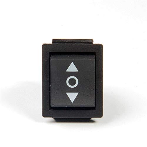 HGLNBN Interruptor basculante 5 Piezas ON-Off-ON Negro momentáneo Interruptor basculante 3 Interruptor de posición de 6 Pines del Interruptor de alimentación 6A 250V 10A 125V Push Button