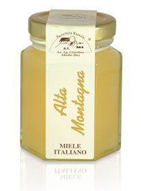 Apicoltura Cazzola Italy - High Mountain Honey (Rhododendron Honey) - Jar of 135 g (Pack of 2 Glass Jars)