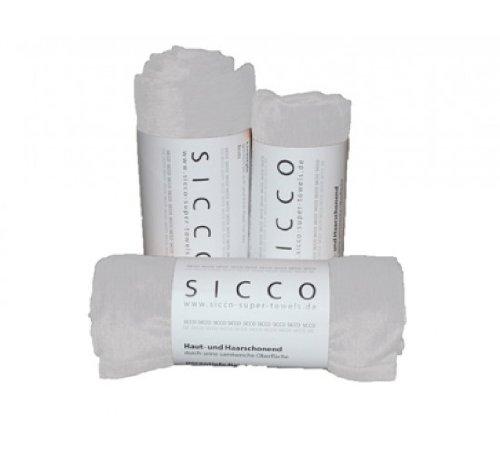 Wirth SICCO Set Sports 2x Handtuch 60 x 90 cm / 1x Duschtuch 70 x 130 cm Mikrofaser, Set, Handtuch Microfaser, weiß