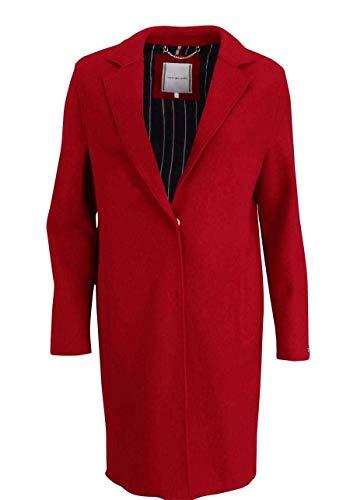 Tommy Hilfiger Damen Rachel Boiled Wool SB Coat Mantel, Rot (Haute RED XBE), 34 (Herstellergröße:6)