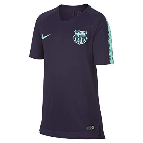 Nike Kinder FC Barcelona Breathe Squad Trainingsshirt, lila/Türkis, XL-158/170 cm