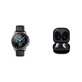 Samsung Galaxy Watch 3 (41mm, GPS, Bluetooth, Unlocked LTE) Smart Watch - Mystic Silver with Samsung Galaxy Buds Live, T, Mystic Black (B08R969MJ5) | Amazon price tracker / tracking, Amazon price history charts, Amazon price watches, Amazon price drop alerts