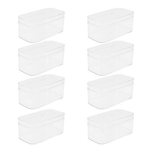 Cabilock 10 Piezas Cajas de Almacenamiento de Plástico Caja de Galletas de Acrílico Transparente para Regalos Bodas Favores de Fiesta Golosinas Dulces Accesorios