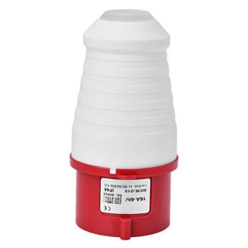 Weikeya Fácil de Instalar zócalo Impermeable Industrial, 125 x 62 x 62mm de plástico 50-60Hz 220-380V / 240-415V (Rojo + Blanco)
