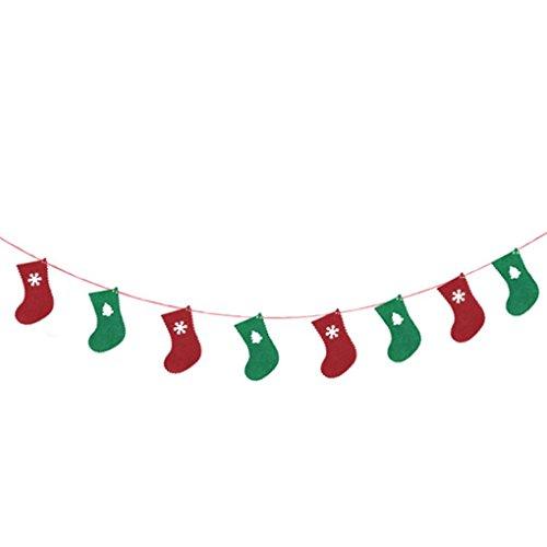 Qinghengyong 8pcs Weihnachten Mall Schule Dekor Brief Garland Pennant Weihnachten Wimpel Weihnachten Wimpel Hängen Pennant Banner 3