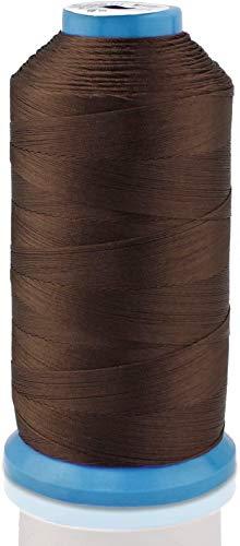 ALLNICE Hilo de coser de nailon resistente para exteriores, asientos de cuero, bolsos, zapatos, lonas, tapicería y costura a mano (marrón)