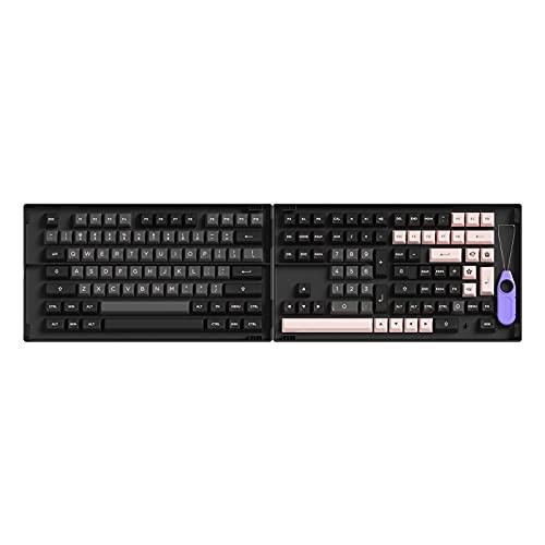 Akko Black & Pink 158-Key ASA Profile PBT Double-Shot Full Keycap Set for Mechanical Keyboards with...