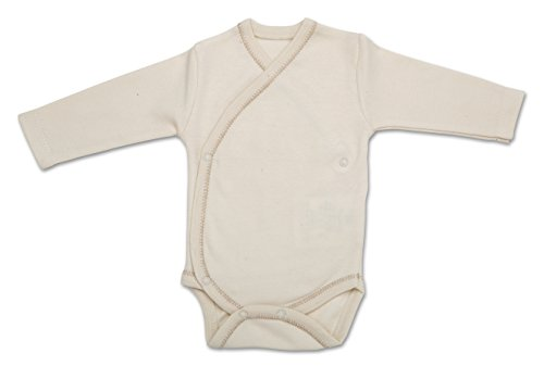 The Dida World Narinan Kimono Bodi à manches longues en coton bio Beige Taille 0 mois