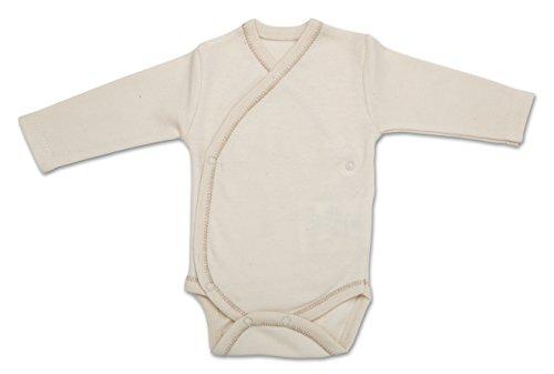 The Dida World Narinan Kimono - Bodi de algodón orgánico, de manga larga, talla 0 meses, color beige