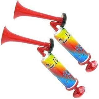 Rhode Island Novelty 8.5 Inch Mini Pump Air Horns, Two Pack