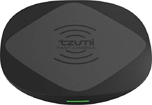 tzumi HyperCharge 10-Watt Wireless Fast Charger Pad for Qi-Compatible iPhones, Androids, and All Wireless Charging Smart Devices – for Home and Office. Includes Qualcomm 3.0 Quick Charge Adapter.
