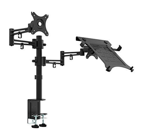 """Bramley Power Dual-Monitor-Bildschirmhalterung für Schreibtischmontage VESA-Halterung für Twin 13 \""""bis 32\"""" Computerbildschirm oder Fernseher, Neigen, Drehen und Schwenken (Monitor & Laptop)"""