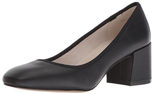 Kenneth Cole New York Womens Eryn Block Heel Pump, Black Leather, 8.5 M US