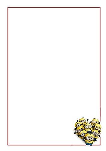 10 A5 Minions sur le thème écriture Petits Établissements papier uni – articles de papeterie – Autres thèmes disponibles