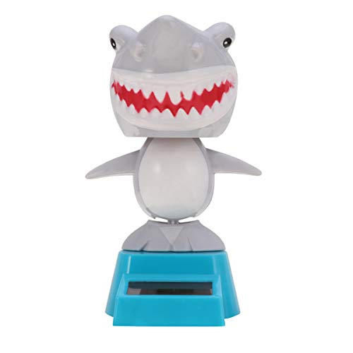 Amosfun Solartanzfiguren Auto Dekoration Puppentänzer Spielzeug Desktop zugunsten Grauer Hai geformt