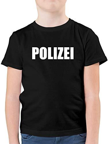 Karneval & Fasching Kinder - Polizei Karneval Kostüm - 104 (3/4 Jahre) - Schwarz - F130K - Kinder Tshirts und T-Shirt für Jungen