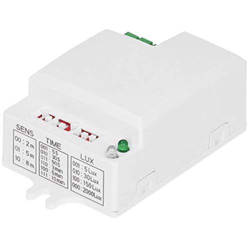 ORNO CR-229 Mini-Mikrowelle Bewegungsmelder Blickwinkel: 360 Grad/180 Grad, Bereichsanpassung Erkennung und Zeiteinstellung, Farbe : weiß
