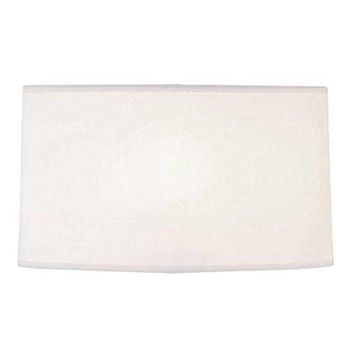Design Classics Lighting Large White Oval Linen Lamp Shade