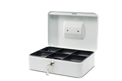 Maul Geldkassette 3, Weiß, Herausnehmbarer Hartgeldeinsatz, 250 x 90 x 191 mm, 5611302, 1 Stück