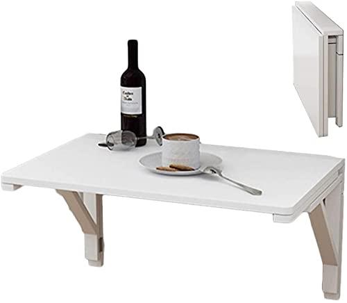 DZCGTP Mesa de Pared Plegable de Madera Blanca, mesas Plegables de Cocina/Comedor/Oficina montadas en la Pared, Ahorra Espacio