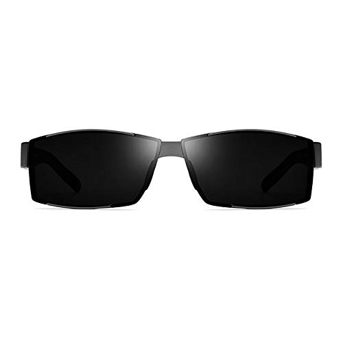 WHSS Gafas de Sol Gafas De Sol Ultraligeras for Hombre TR90 Gafas De Sol Polarizadas Gafas De Sol Cuadradas con Protección UV400 (Color : Gray)