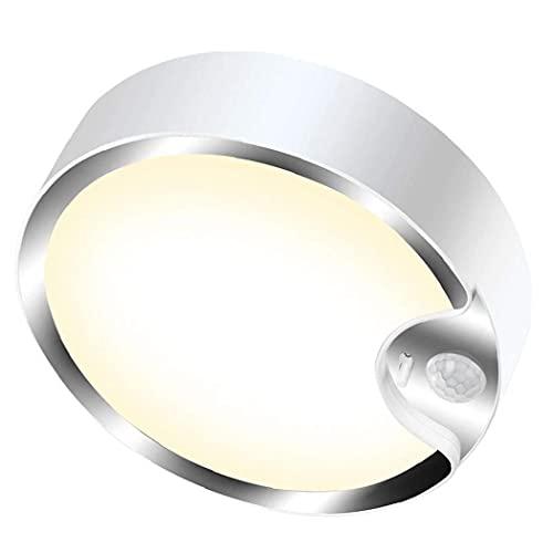 LAANCOO Luz de Techo del Sensor de Movimiento LED de la batería Caliente Powered Blanca lámparas de Noche con Sensor de luz para el sótano Escalera Pasillo de lavandería