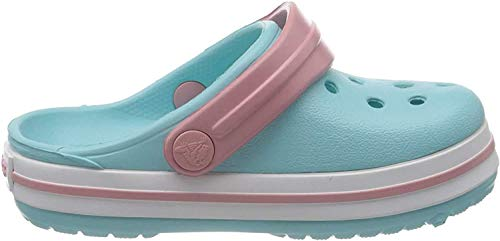 crocs Unisex-Kinder Crocband K Clogs, Blau (Ice Blue/White), 34/35 EU