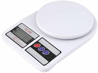 Fabmania Electronic Kitchen Digital Weighing Scale, Multipurpose Weight Machine, Weight Scale (White, 10 Kg)