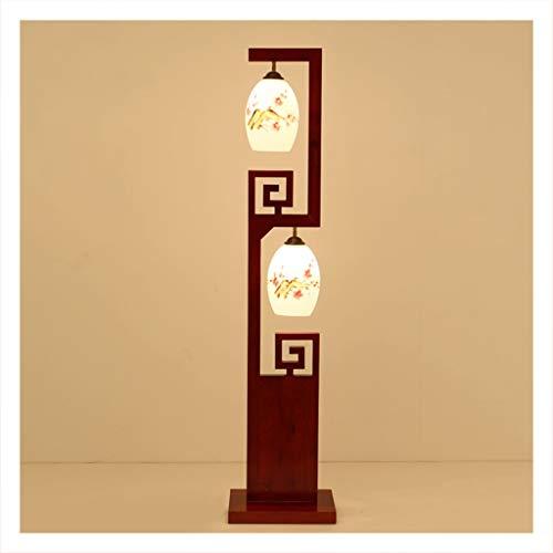 DEZHAO Lámpara de pie, lámpara de decoración de Estudio del Dormitorio de la Sala de Estar, lámpara de pie clásica Oriental Moderna -0220