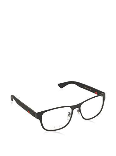 Gucci GG 0013O 001 Black Metal Square Eyeglasses 55mm