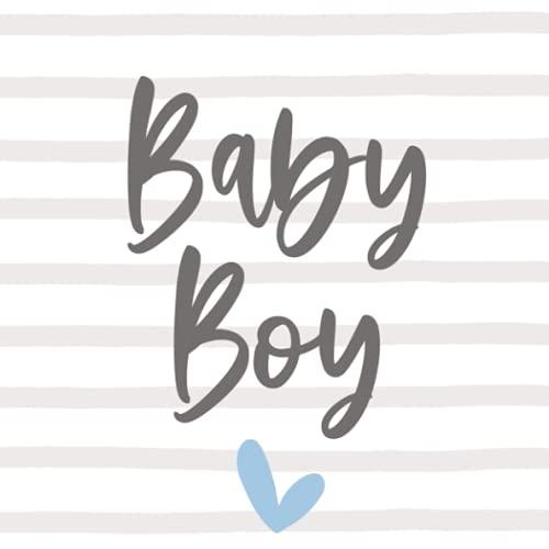 Baby Boy Babyparty Gästebuch Junge Babyshower Buch Erinnerung Baby Party Gastgeschenk | Geschenk für frisch gebackene Eltern zur Geburt: blanko 80 Seiten 21cm x 21cm (quadratisch)