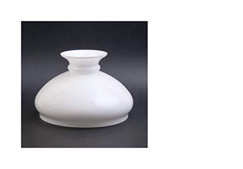 Vestaglas - Pantalla de cristal opalino para lámpara de petróleo (23,2 cm de diámetro), color blanco