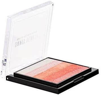 Swiss Beauty Brick Highlighter Palette, Face MakeUp, Multicolor-02, 7g