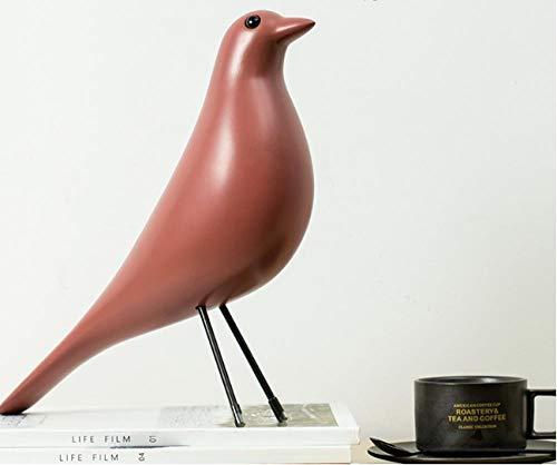lilizhang Schmuck Heimtextilien Tierdekorationen Geschenk Handwerk Musiknoten Kleine Ornamente, Skulptur Büro@Bird - red
