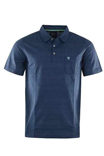 hajo Herren Poloshirt, Stay Fresh, Art. 26622/BX, admiralsblau dezente Musterung