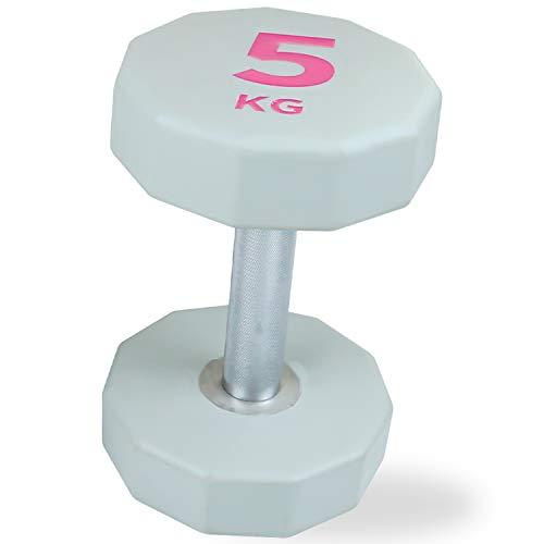 WOMEN'S HEALTH BODY Kurzhantel (Dumbbell) 5kg | Geeignet für Isolationsübungen oder Ganzkörperworkouts (5)