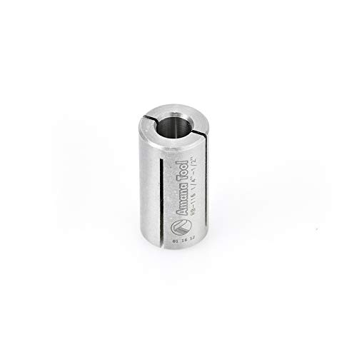 Amana Tool - RB-116 High Precision Steel Router Collet Reducer 1/2 Overall Dia x 1/4 Inner