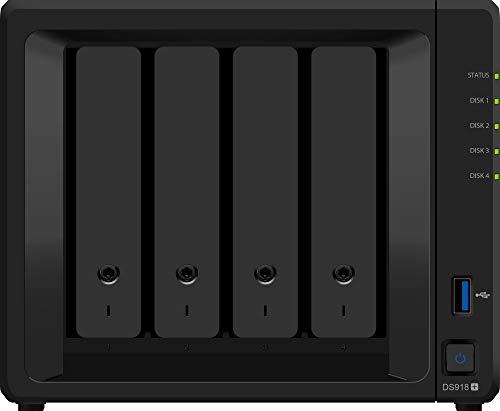 Synology DiskStation DS918+ server NAS e di archiviazione Collegamento ethernet LAN Scrivania Nero