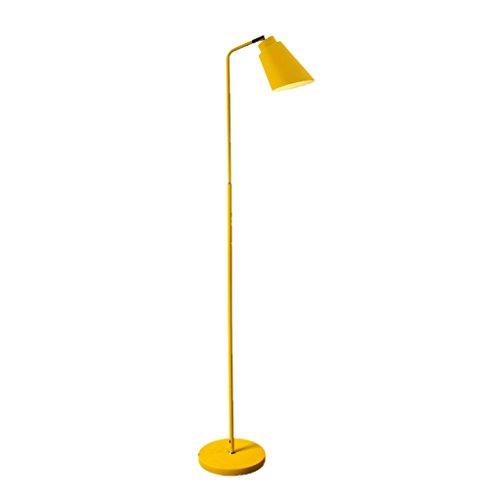 MMM Nordeuropa Moderne einfache Stehlampe Wohnzimmer Schlafzimmer Nacht Studie lesen vertikale Licht (Farbe : Gelb)