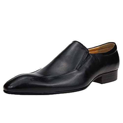 Sdmcdamzzy Herren Brogues formelle Business Leder Schuhe Derby Kleid Schuhe für Business Hochzeit, schwarz, EU45 thumbnail