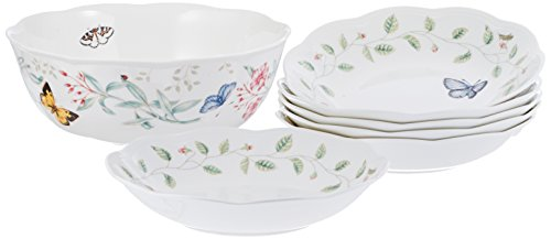 LENOX 6437719 Butterfly Meadow 7-Piece Bowl Set, 9.1 LB, Multi