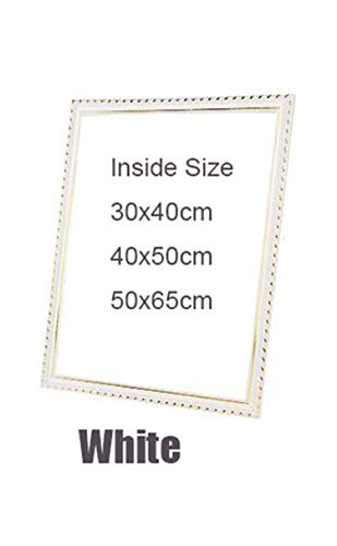 Suit for All Kinds of DIY Oil Painting by Numbers Wood Frame Wall Diamond Painting Embroidery Picture Frame Photo Picture Frame,White,30x40CM