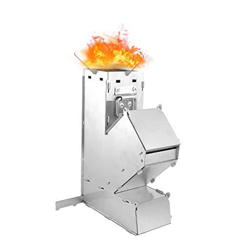 Ljourney Raketenofen Rakete | Rocket Stove Stecksystem Aus Massivem 1.2-mm-dickem Stahl Für Dutch Oven, Grillpfannen Und Vieles Mehr