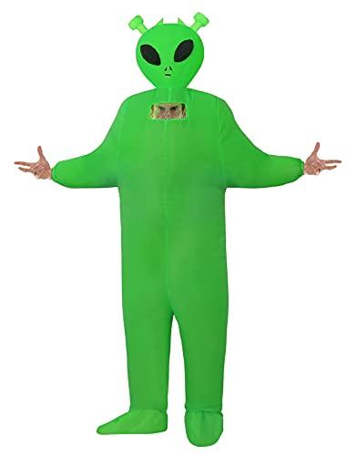 Inflatable Alien Costume Fancy Dress Halloween Blow up Costumes Adult Kids (Green Alien Adult)