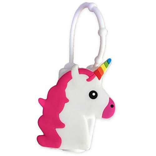 Unicorn Emoji Embossed Designed Silicone 1 Oz Travel Size Pocketbac Lotion Hand Gel Sanitizer Holder Case Cover (Unicorn) (Unicorn)