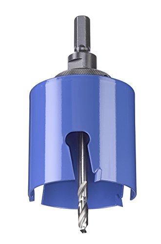 kwb Universal-Lochsäge – 68 mm Durchmesser-Größe, extra scharfe Zähne aus Hartmetall, 8 mm Zentrierbohrer