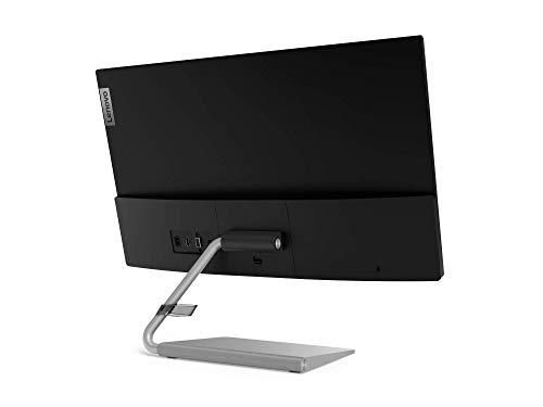 Lenovo Q24i-10 60,45 cm (23,8 Zoll, 1920x1080, Full HD, 75Hz, WideView, entspiegelt) Monitor (VGA, HDMI, 4ms Reaktionszeit, AMD Radeon FreeSync) schwarz