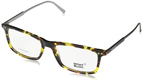 Mont Blanc Montblanc Brillengestelle MB 0615 055 Monturas de gafas, Marrón (Braun), 55.0 para Hombre